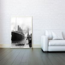 Titanic RMS, White Star Line - Decorative Arts, Prints & Posters, Wall Art Print, Poster Any Size - Black and White Poster